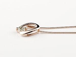 【送料無料】馬蹄 ネックレス ダイヤモンド ホースシュー ペンダント ピンクゴールドk10 シン
