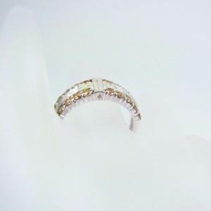 【中古】750YG ダイヤモンド リング 12.5号[f55-9]