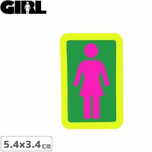 GIRL ガールスケートボード STICKER ステッカー BOX LOGO STICKER ピンク×グリーン 5.4cm x 3.4cm NO147