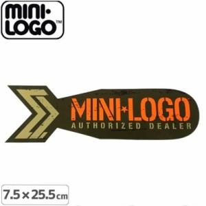 スケボー MINI LOGO ミニロゴ ステッカー AUTHORIZED DEALER  7.6cm x 25.5cm NO03