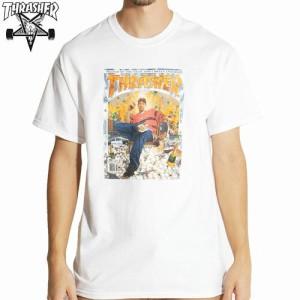 スラッシャー THRASHER スケボー Tシャツ US規格 BA NO LIMIT TEE ホワイト NO81