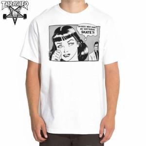 スラッシャー THRASHER スケボー Tシャツ US規格 THRASHER BOYFRIEND TEEホワイト NO54