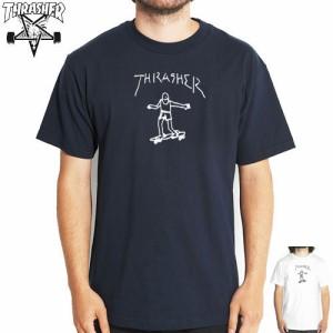 【スラッシャー THRASHER スケボー Tシャツ】GONZ TEE【ネイビー】【ホワイト】NO17