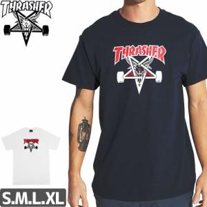 スラッシャー THRASHER スケボー Tシャツ US規格 TWO-TONE SKATEGOAT TEE 2カラー NO99