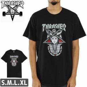 スラッシャー Tシャツ US規格 THRASHER スケボー Goddess T-Shirt ブラック NO100
