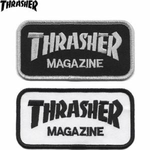 【スラッシャー THRASHER スケボーワッペン】Logo【2色】【5cm×10cm】NO02