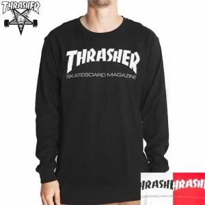 スラッシャー THRASHER ロングTシャツ US規格 SKATE MAG L/S TEE ブラック ホワイト レッド NO2