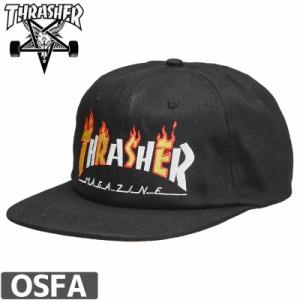 スラッシャー THRASHER キャップ US規格 FLAME MAG SNAPBACK CAP ブラック NO41