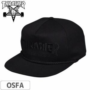 スラッシャー THRASHER キャップ US規格 Rope Snapback Cap ブラック NO46