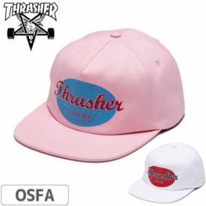 スラッシャー Thrasher キャップ US規格 OVAL SNAPBACK CAP ピンク ホワイト NO49