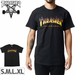 スラッシャー Tシャツ US規格 THRASHER メンズ 半袖 スケボー BBQ T-SHIRT ブラック NO110