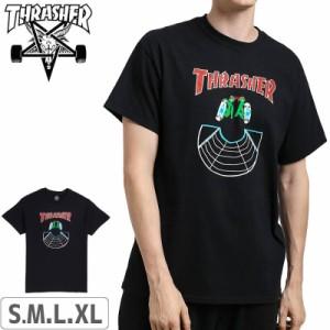 スラッシャー THRASHER Tシャツ US規格 Doubles T-shirt ブラック NO115