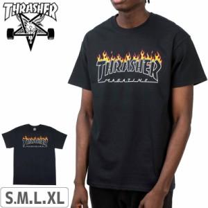 スラッシャー THRASHER Tシャツ US規格 Scorched Outline T-Shirt ブラック NO118