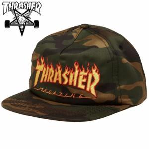スラッシャー THRASHER メッシュ キャップ FLAME SNAPBACK CAP カモ NO52