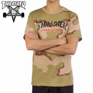 スラッシャー THRASHER Tシャツ CALLIGRAPHY T-SHIRT デザートカモ NO121