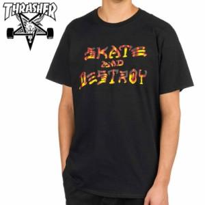 スラッシャー THRASHER Tシャツ SKATE AND DESTROY BBQ T-SHIRT ブラック NO122