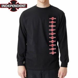 インディペンデント スラッシャー ロングTシャツ O.G.B.C. VERTICAL L/S TEE ブラック NO9