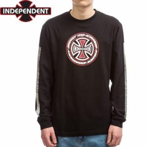 インディペンデント スラッシャー ロングTシャツ T/C BLAZE L/S TEE ブラック NO12
