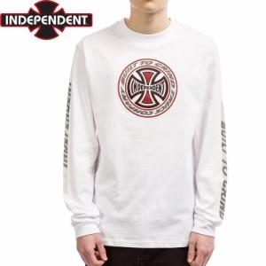インディペンデント スラッシャー ロングTシャツ T/C BLAZE L/S TEE ホワイト NO13
