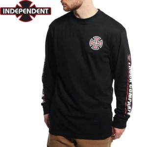 インディペンデント スラッシャー ロングTシャツ SHEAR L/S TEE ブラック NO14