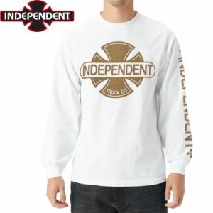 インディペンデント スラッシャー ロングTシャツ BASEBPLATE L/S TEE ホワイト NO17