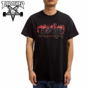 スラッシャー THRASHER Tシャツ CROWS T-SHIRT  ブラック  NO123