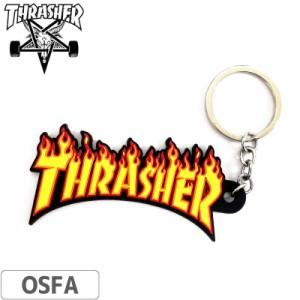 スラッシャー THRASHER USモデル キーホルダー Flame Keychain 3.8cm x 8.5cm NO05