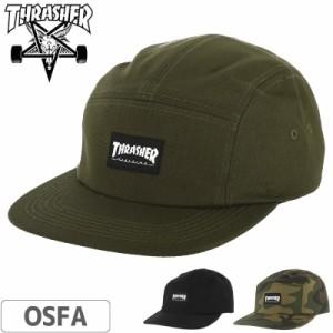 スラッシャー THRASHER キャップ US規格 5-PANEL CAP 迷彩 カーキ ブラック NO36