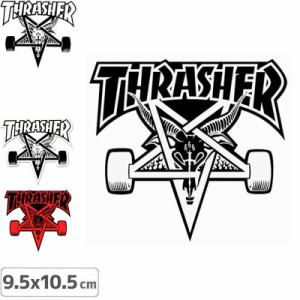スラッシャー ステッカー THRASHER スケボーSK8 GOAT 3色 9.5cm x 10cm NO27
