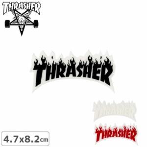 スケボー ステッカー スラッシャー USモデル THRASHER  FLAME 3色 4.7cm x 8.2cm NO49