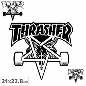 スラッシャー ステッカー THRASHER スケボーSK8 GOAT STICKER 2色 21cm×22.8cm NO35