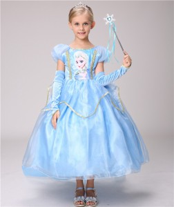 da49cbc8c3ef7 LU83ディズニープリンセス アナ雪 エルサ キッズ子ども お姫様 コスチューム エルサドレス 子供用ドレス キッズドレス なりきり