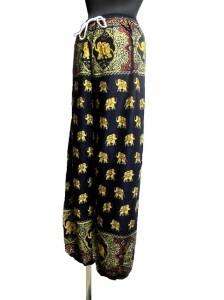 ゾウさん柄エスニックアラジンパンツハーレムパンツエスニック衣料エスニックアジアンファッション