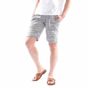 611cbed2df ショートパンツ メンズ ハーフパンツ 膝上 短め 杢柄 無地 ハーフ イージー スウェットパンツ 部屋