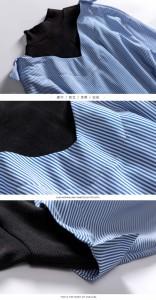 ニット切り替え膝丈シャツワンピース ロングワンピ 上品 春物 韓国ファッション