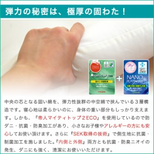 【送料無料】ダブル 極厚 敷き布団 増量 ボリュームアップ! 敷布団 ダブル 防ダニ 制菌 抗菌 防臭 ニオイ対策