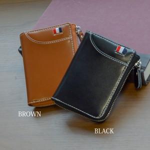 06c172bd22d9 牛革 財布 メンズ 二つ折り財布 薄い 多機能 L字ファスナー ショートウォレット 薄型 コンパクト ミニ財布【メール便送料無料】