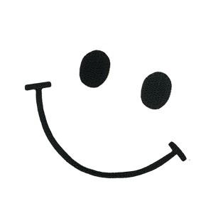 スマイル ワッペン 刺繍ワッペン アイロン接着 Smile ニコちゃん にこちゃん アップリケ アイロンワッペン 手芸 かわいいメール便可
