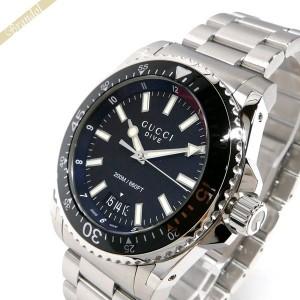 3145aa97257c 《還元祭クーポン対象》グッチ GUCCI メンズ腕時計 DIVE ダイヴ 45mm ブラック×シルバー