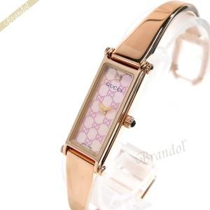 527edf06a64a 《還元祭クーポン対象》グッチ GUCCI レディース腕時計 1500 バングルウォッチ ダイヤモンド ピンクシェル