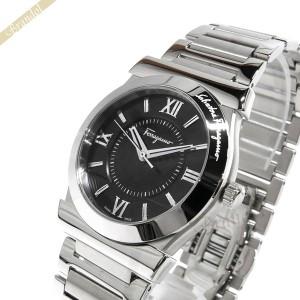a3baa3f508 フェラガモ Ferragamo メンズ腕時計 Vega ベガ 37mm ブラック×シルバー FI0940015