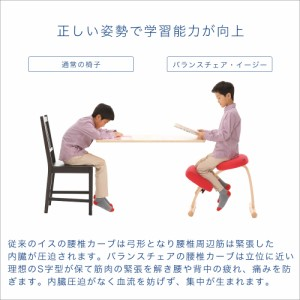 子供椅子 子供用 椅子 子供 学習椅子 学習チェア 学習イス チェア 猫背  腰痛 姿勢 木製 | バランスチェア イージー