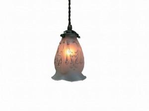 ガラス ペンダントランプ (FC-0905 SET) LED対応 ガラスのシェードがクラシカル アンティーク調 ランプ 吊り下げ式 シンプル