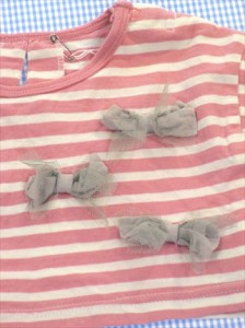 cb763571ac2cd キッズ トップス ブランシェス BRANSHES ロンパース Tシャツ 70cm ピンク 白系 ボーダー ベビー 女の子 中古 子供服 通販 買い取り