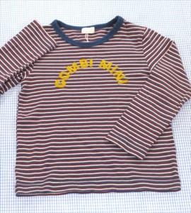 f608abab19891 コンビ Combi 長袖シャツ ロンt 100cm 赤 白 青系 ボーダー トップス 男の子