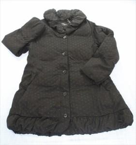 コムサイズム COMME CA ISM コート 140cm 黒系 ドット アウター 女の子 キッズ ジュニア 子供服 通販 買い取り