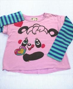 bc2345495a83b グラグラ GRAND GROUND 長袖Tシャツ ロンt 120cm 紫/緑系 パンダ ボーダー トップス