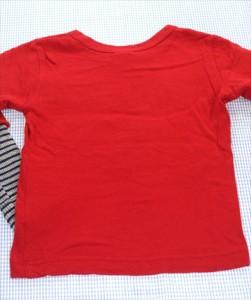 1817102721a4a エフオーキッズ F.O.KIDS 長袖Tシャツ ロンt 110cm 赤系 刺しゅう ワッフル トップス キッズ 男の子 女の子 子供服 通販 買い取り