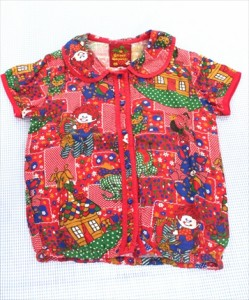 2d461c7596c74 グラグラ GRAND GROUND ブラウス 半袖 140cm 赤系 トップス うさぎ 小花 ぞう 女の子 ジュニア 子供服