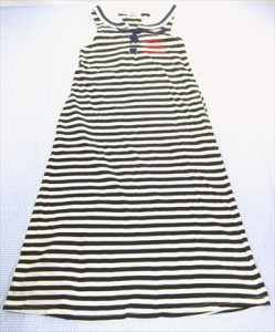 アルジー ALGY ワンピース ノースリーブ マキシ丈 140cm オールインワン 女の子 キッズ ジュニア 子供服 中古